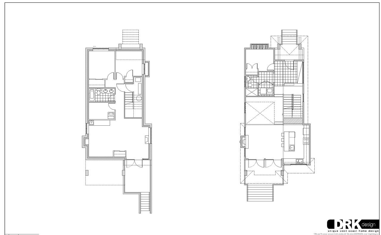 Atrium house basement amp ground floor plan