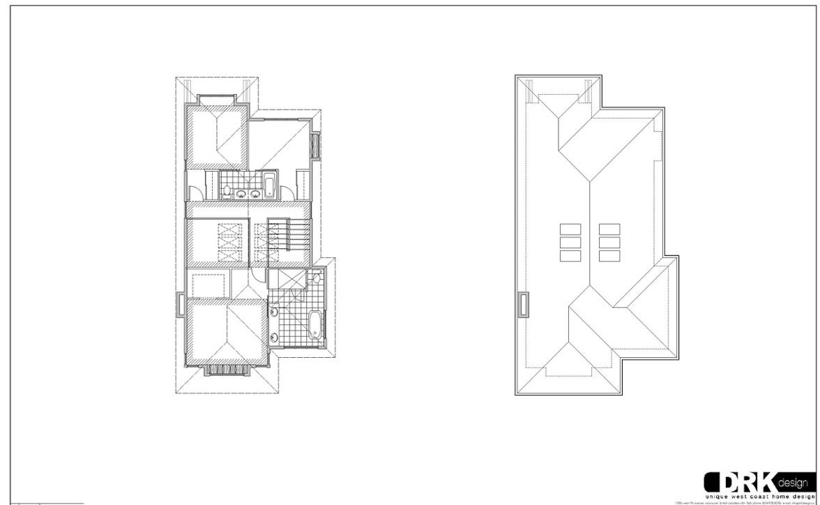 atrium house – upper & roof plan | modern vancouver houses