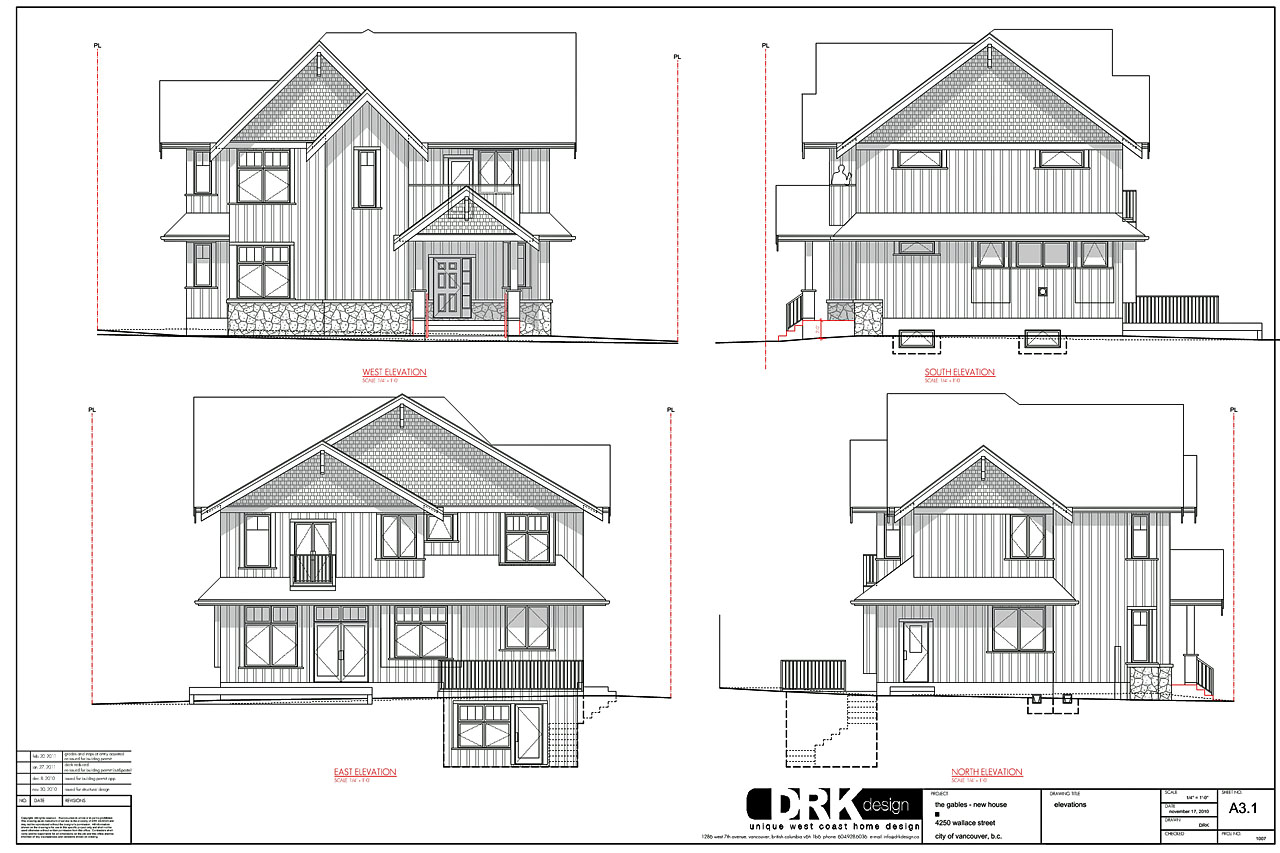 Floor Elevation Drawings : Drkdesign wallace street modern vancouver houses