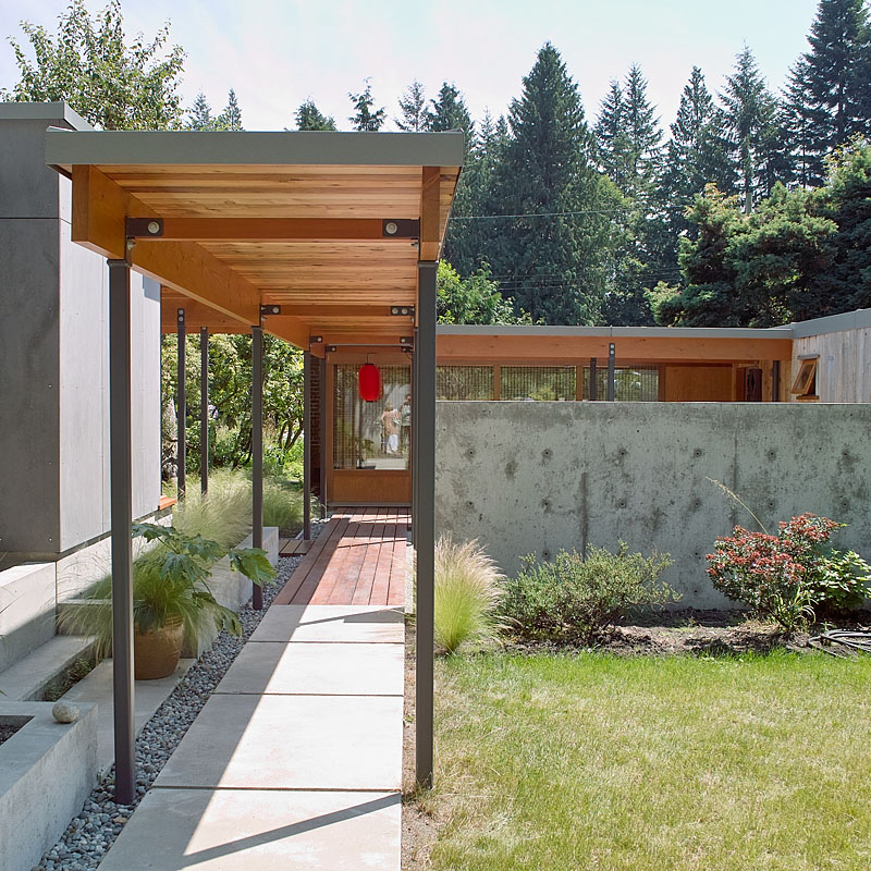 Covered Walkway Designs For Homes: West Vancouver Modern Home Tour 2012