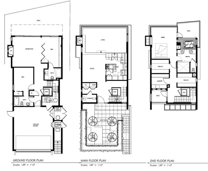 3333 point grey road - floor plans