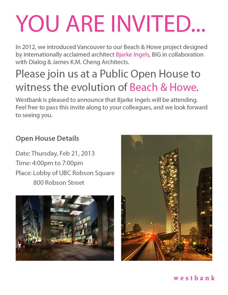 beach and howe open house poster