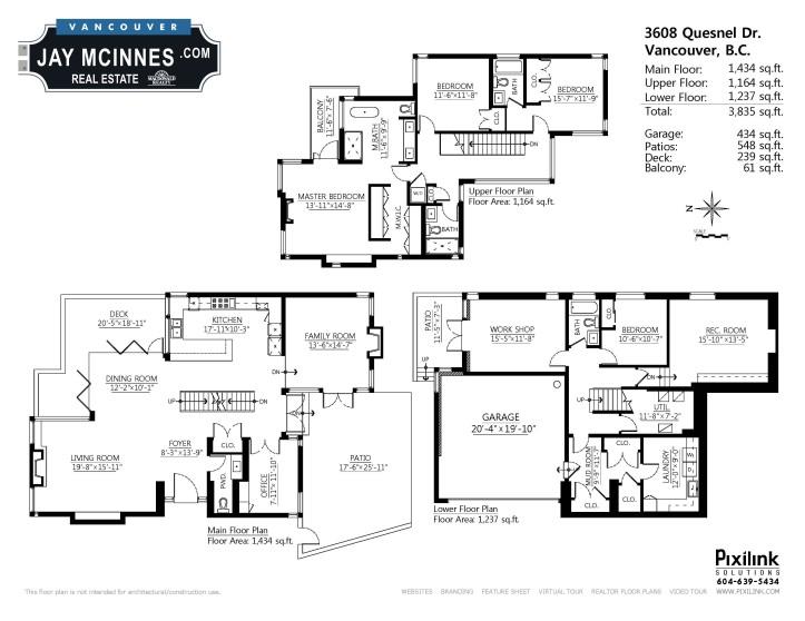 3608 quesnel drive - floor plan