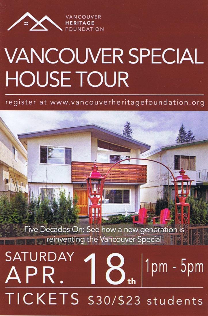 vancouver special tour 2015 - front