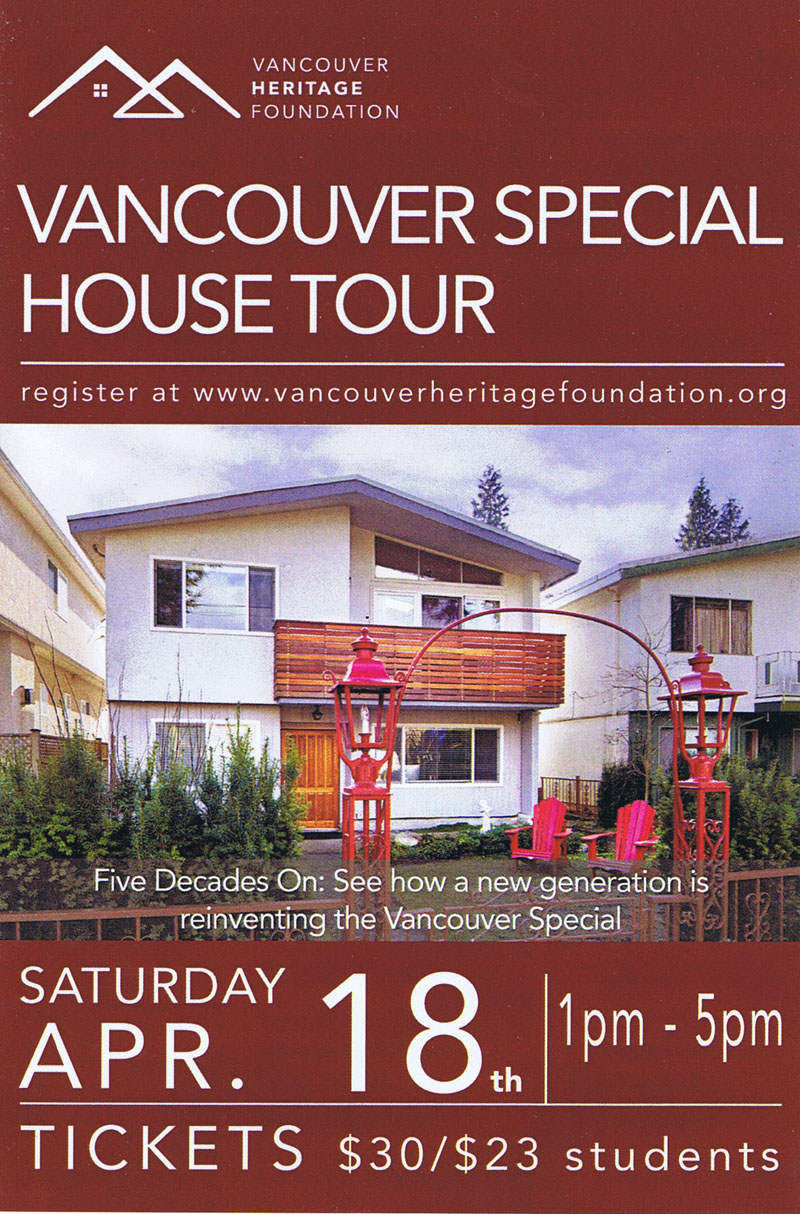 vancouver special tour 2015 - front