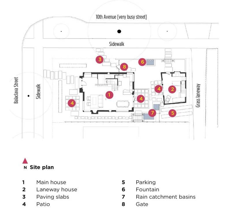 kitsilano house site plan