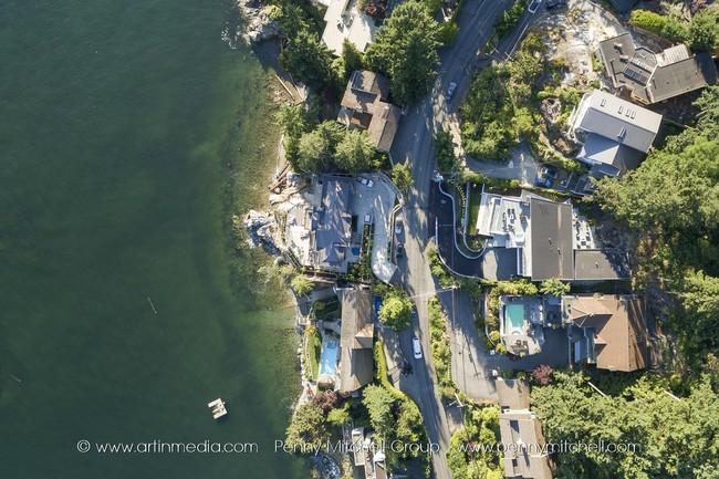 5939 marine drive - aerial view
