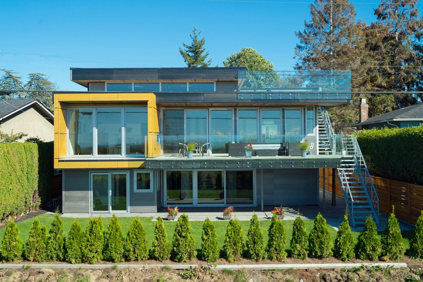 Fibre cement cladding modern vancouver houses for Best house design vancouver